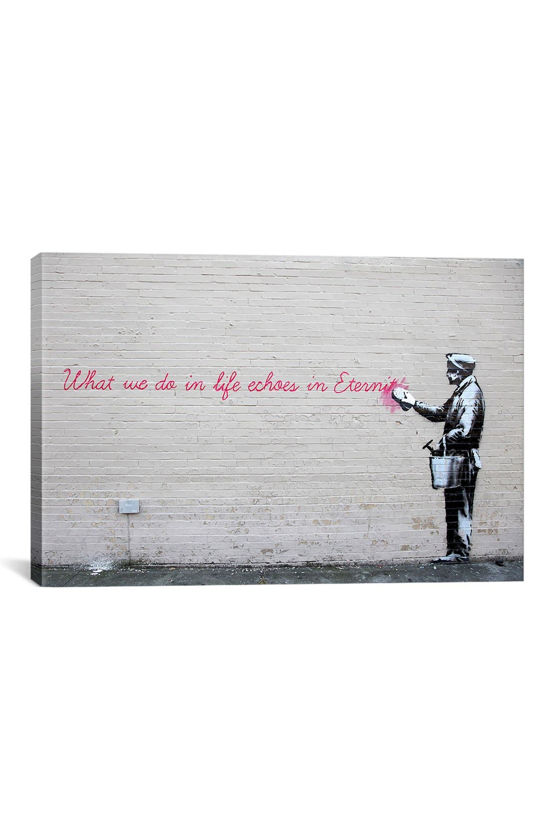 'What We Do in Life Echoes in Eternity' Giclée Print Canvas Art,                         Main,                         color, Grey