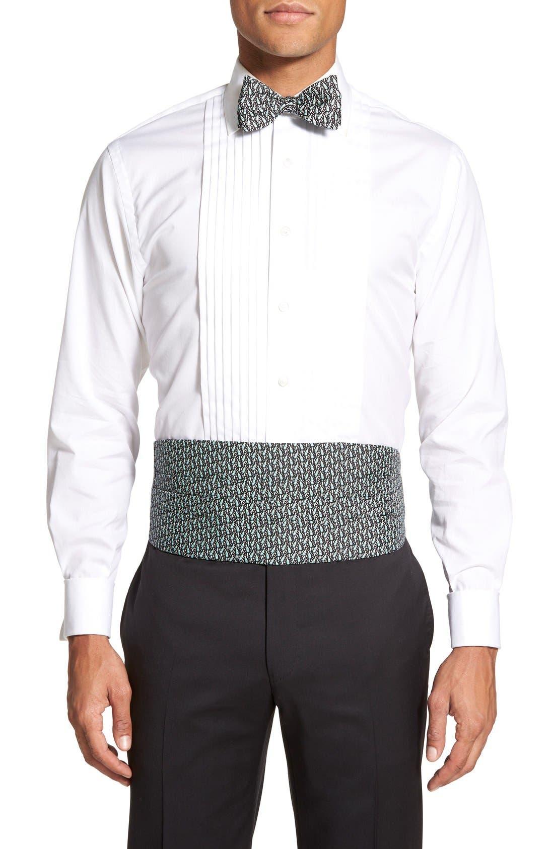 Vineyard Vines 'Champagne' Cummerbund & Self-Tie Bow Tie