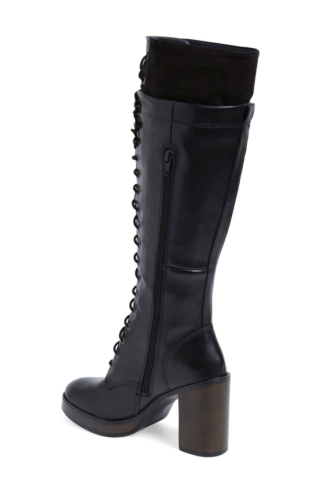 Alternate Image 2  - Steve Madden 'Nitefall' Tall Lace Up Boot (Women)
