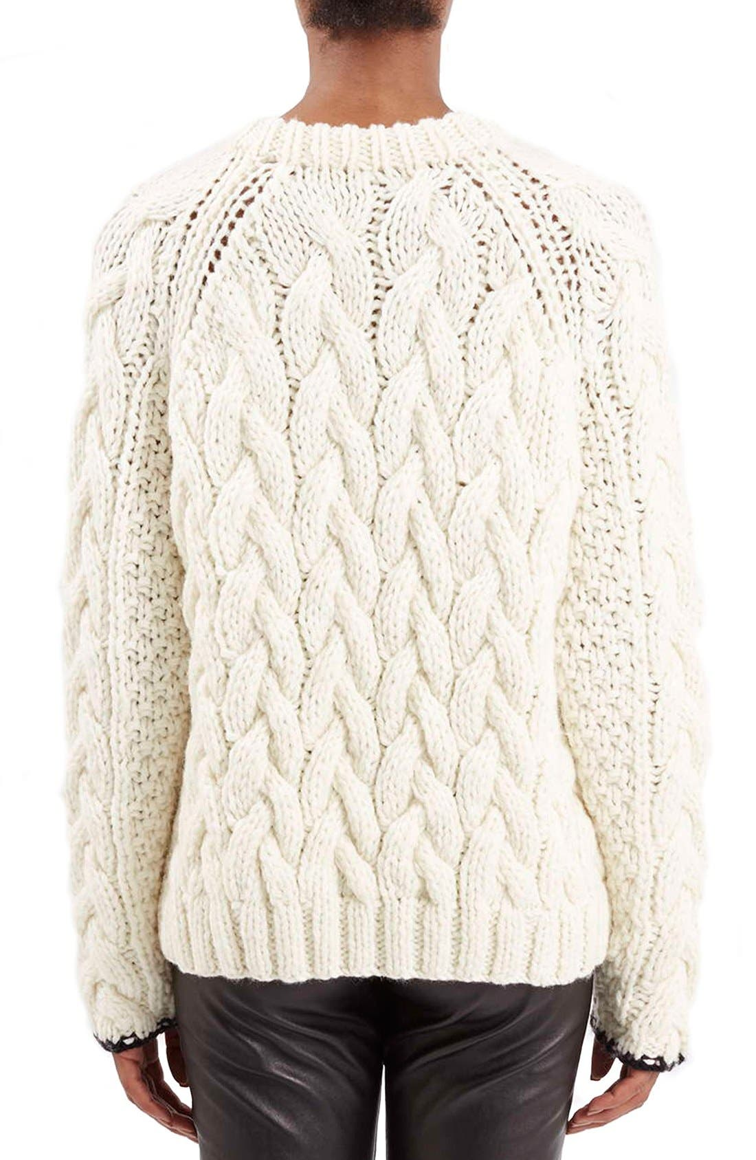 Alternate Image 2  - Topshop Boutique Chunky Cable Knit Sweater