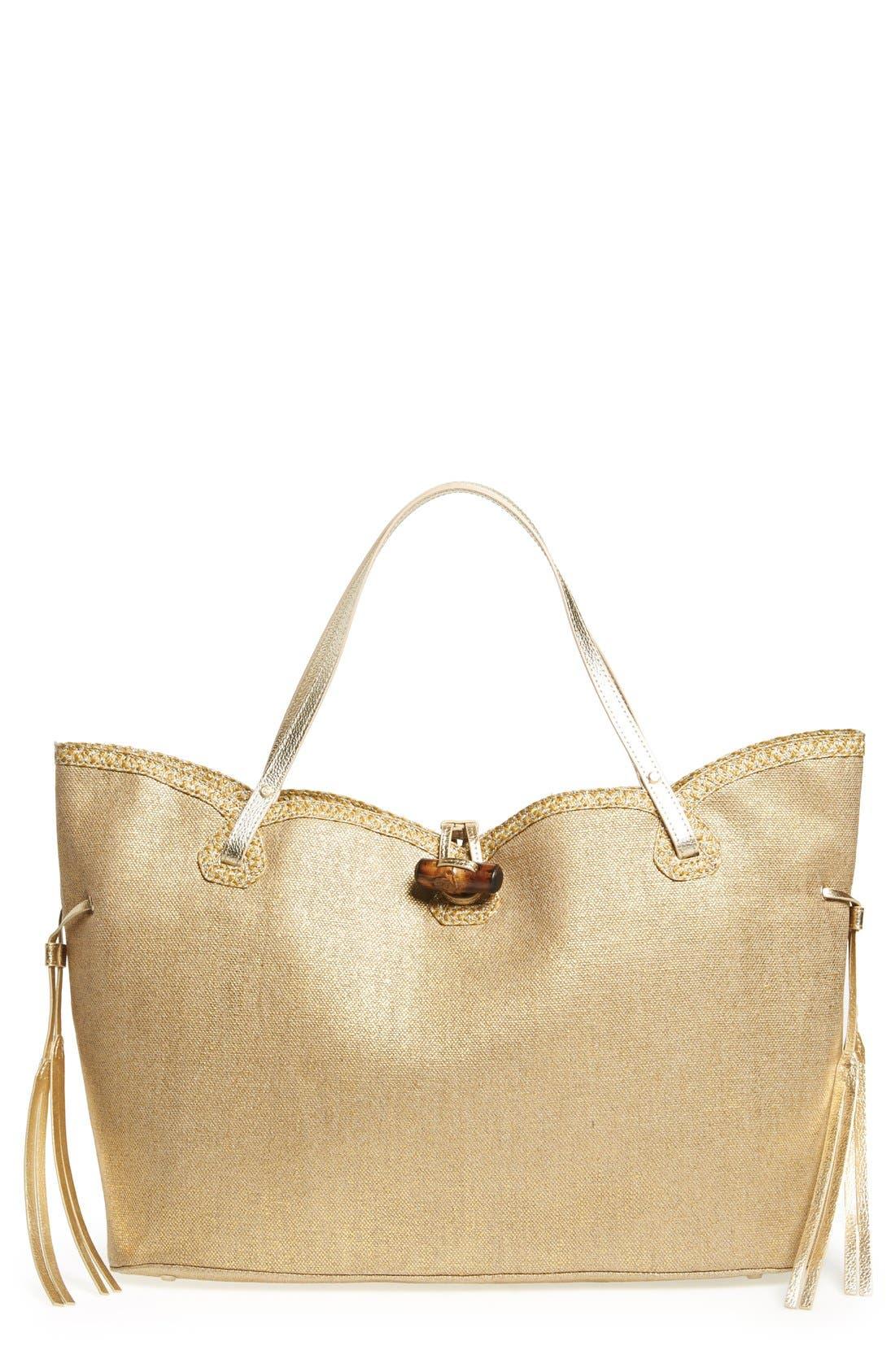 'Tuti' Shopper Tote,                         Main,                         color, Gold