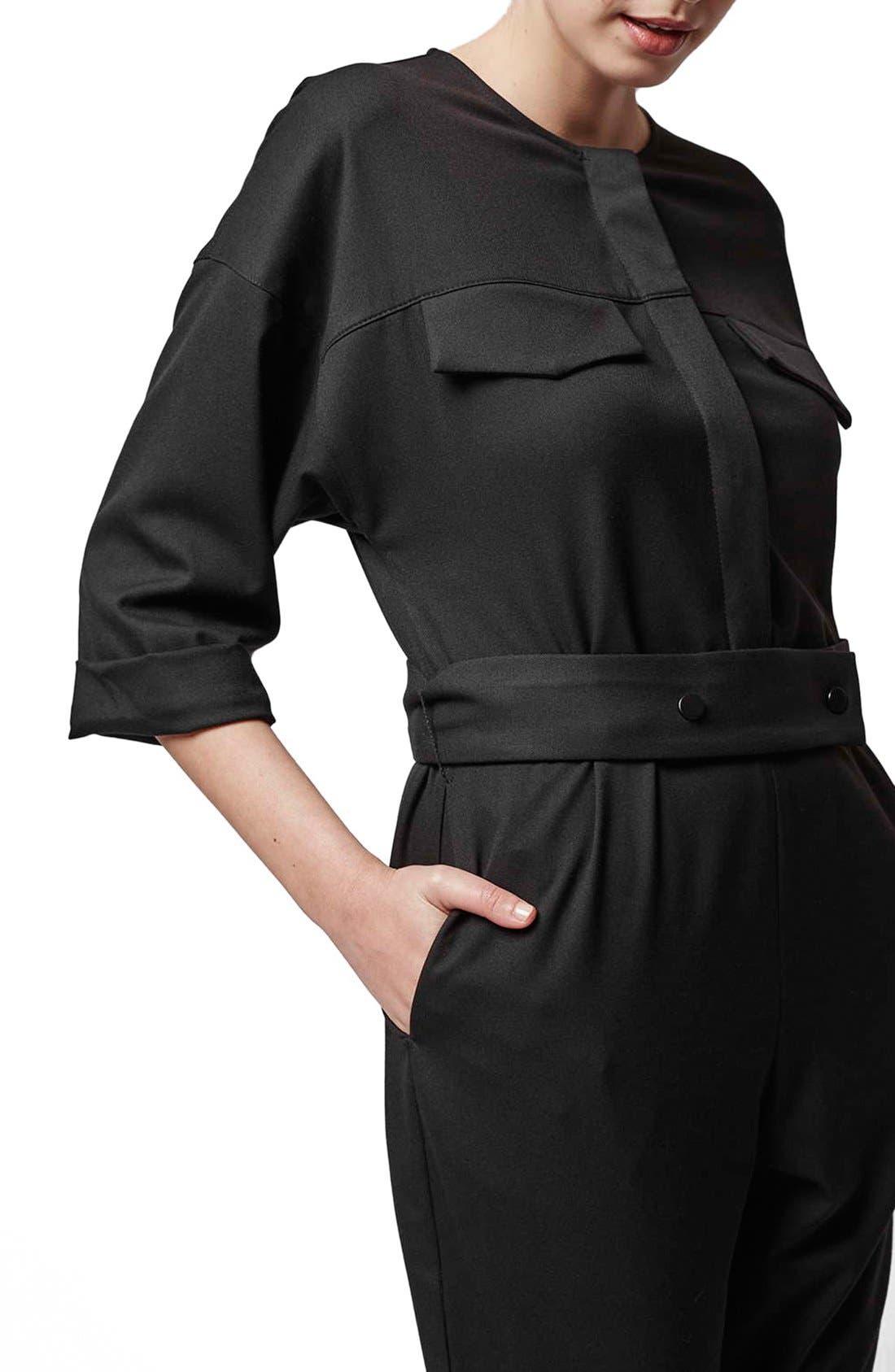 Alternate Image 4  - Topshop Boutique Tailored Jumpsuit
