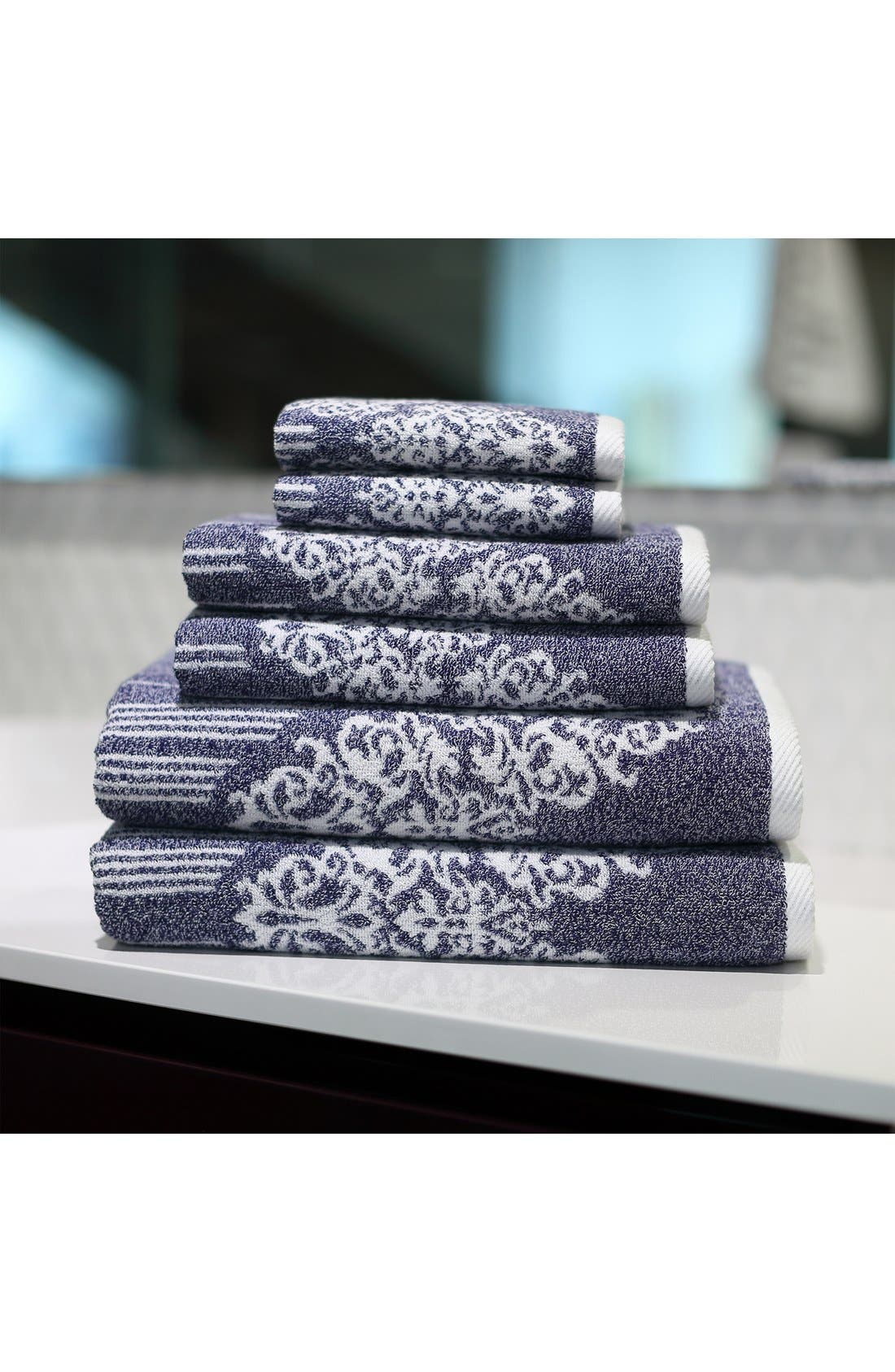 Linum 'Gioia' Bath Towels, Hand Towels & Washcloths,                             Alternate thumbnail 2, color,                             Ocean Blue