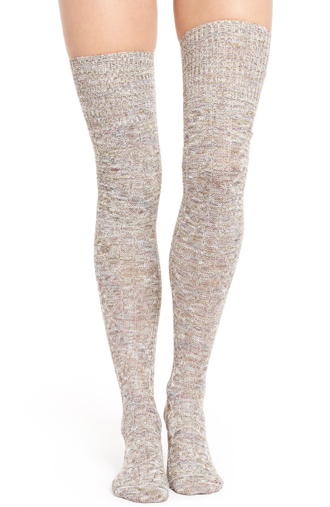 Alternate Image 1 Selected - Free People 'Firefly' Knit Thigh High Socks