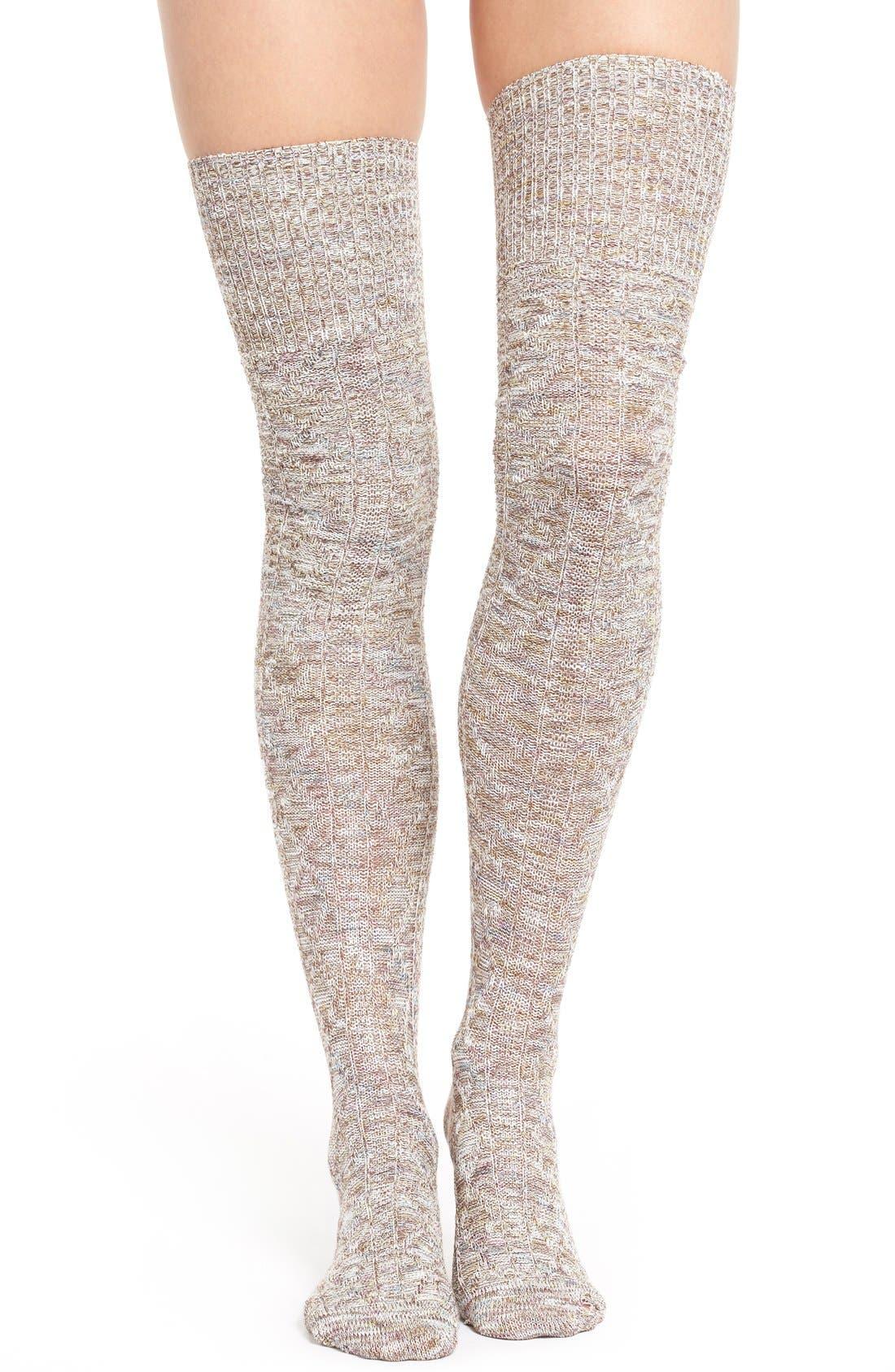 Main Image - Free People 'Firefly' Knit Thigh High Socks