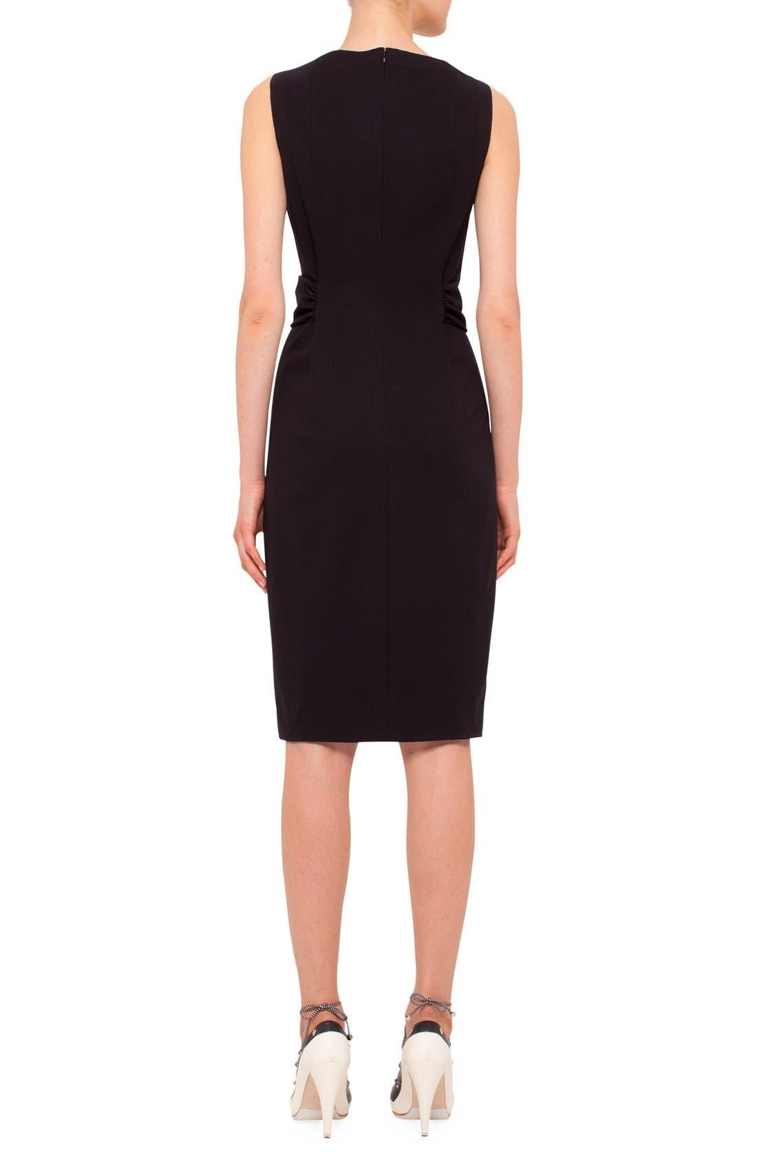 Alternate Image 2  - Akris punto Twist Front Sleeveless Jersey Sheath Dress