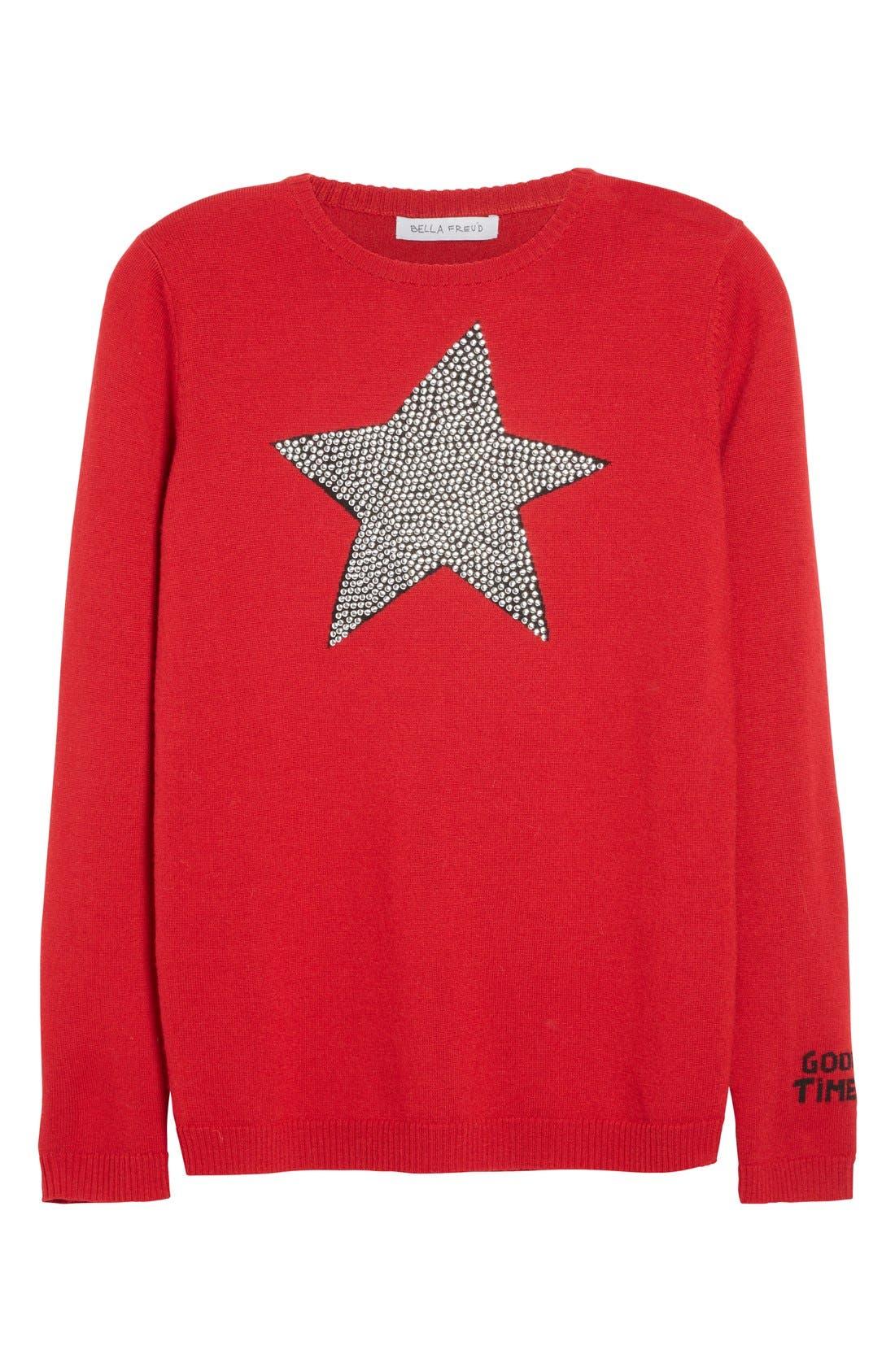 Alternate Image 4  - Bella Freud 'Star Studded' Crewneck Wool Sweater