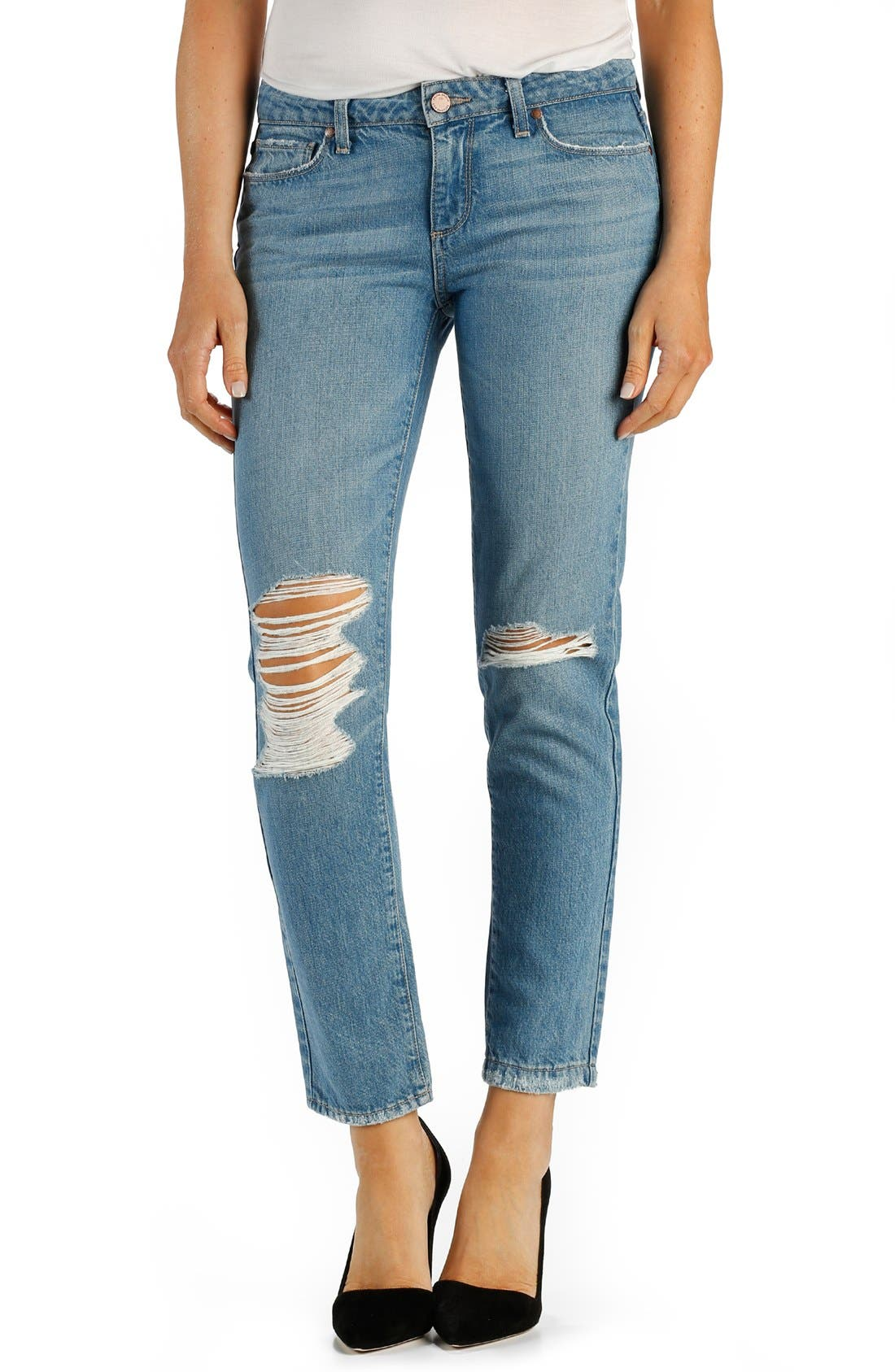 Alternate Image 1 Selected - Paige Denim 'Jimmy Jimmy' Ankle Boyfriend Skinny Jeans (Brynlee)