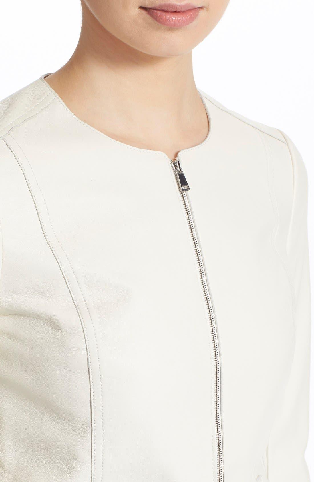 Alternate Image 4  - Vince Tailored Leather Jacket