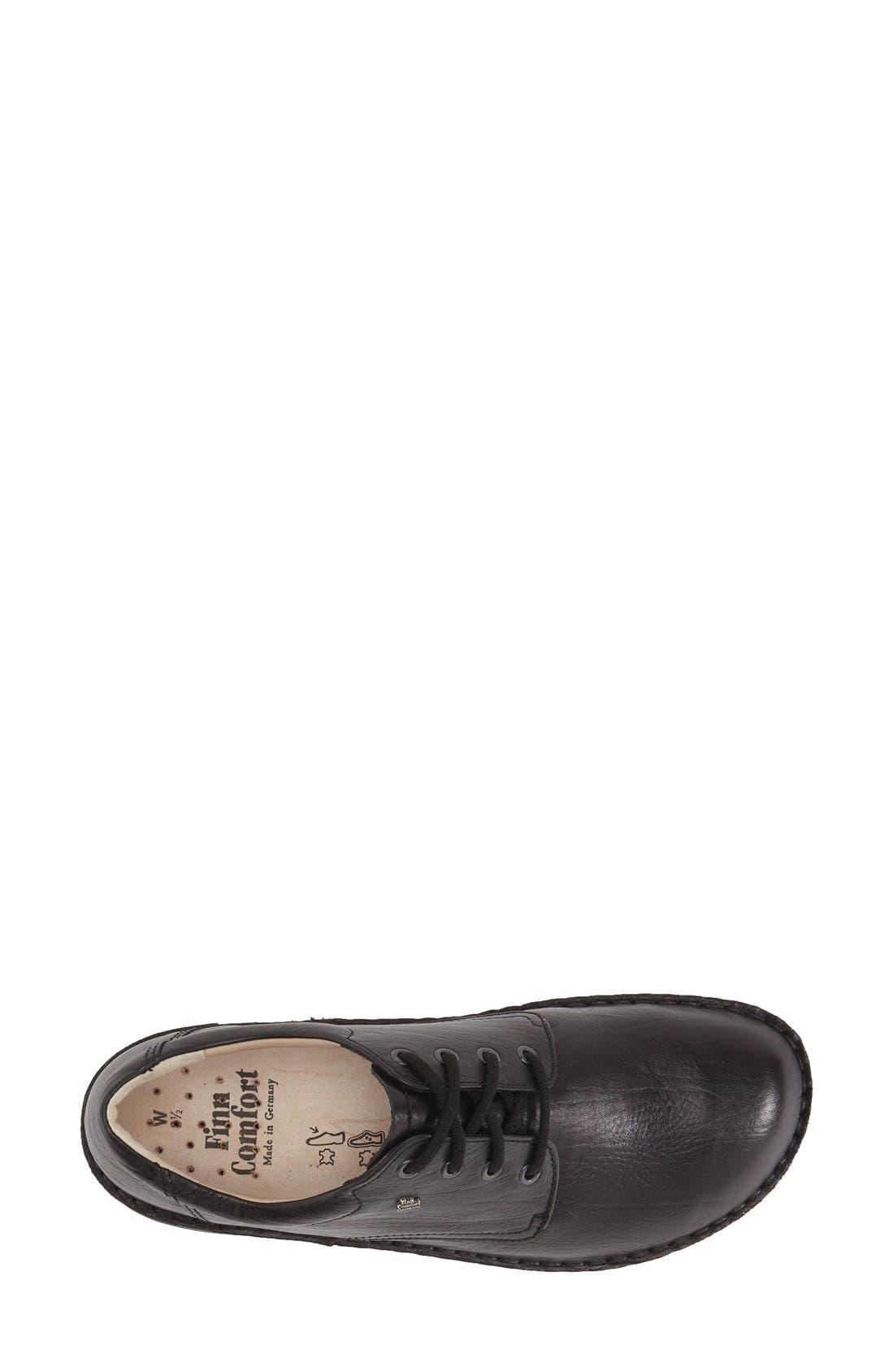 'Metz' Oxford,                             Alternate thumbnail 3, color,                             Black Leather