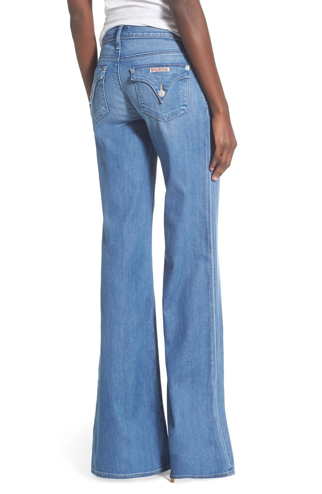 'Brooke' Wide Leg Jeans,                             Alternate thumbnail 2, color,                             Nightingale