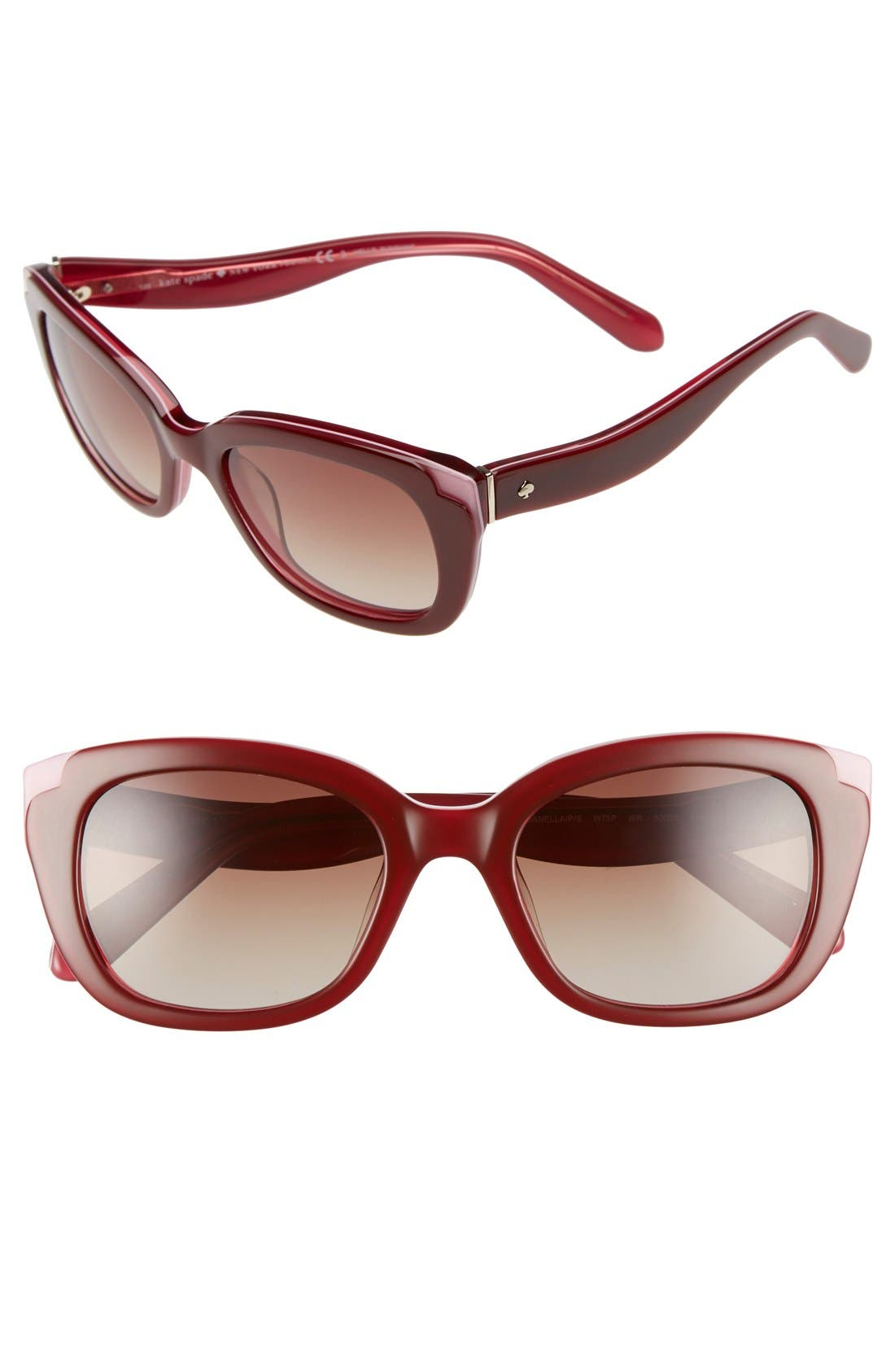 KATE SPADE NEW YORK danella 50mm sunglasses