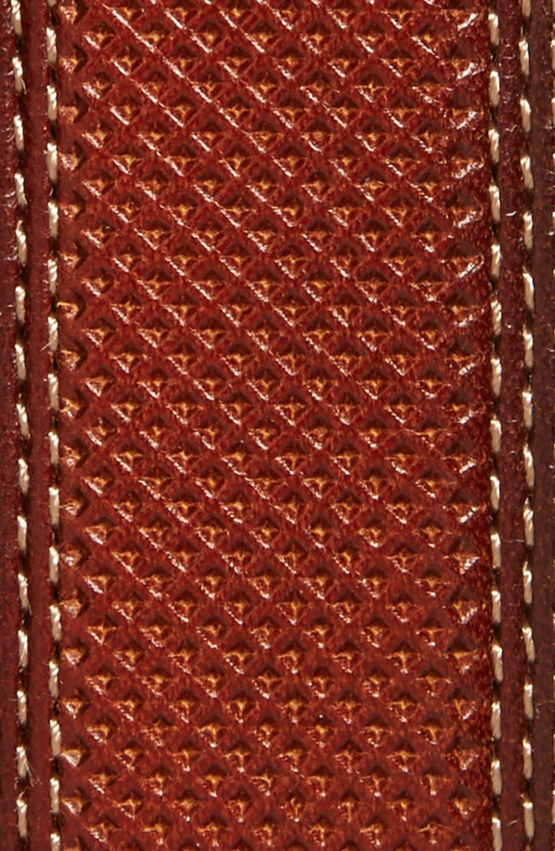 Textured Leather Belt,                             Alternate thumbnail 2, color,                             Tan