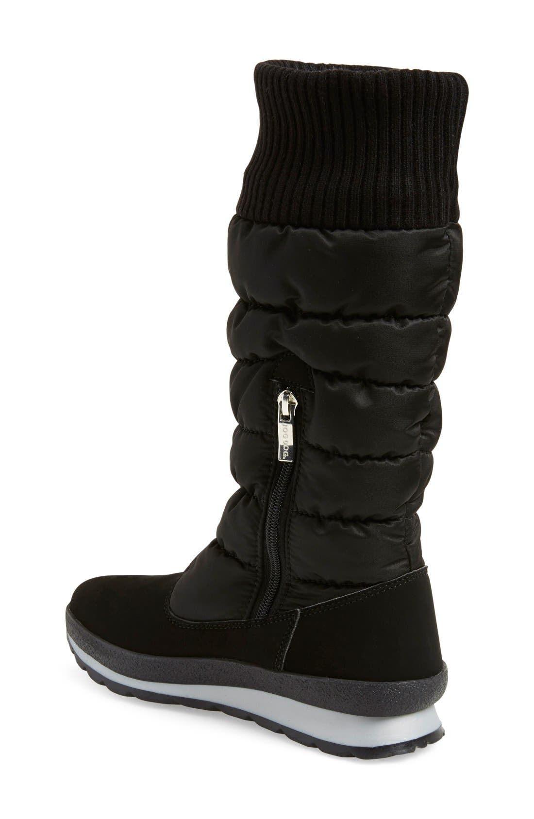 St. Anton Waterproof Winter Boot,                             Alternate thumbnail 2, color,                             Black