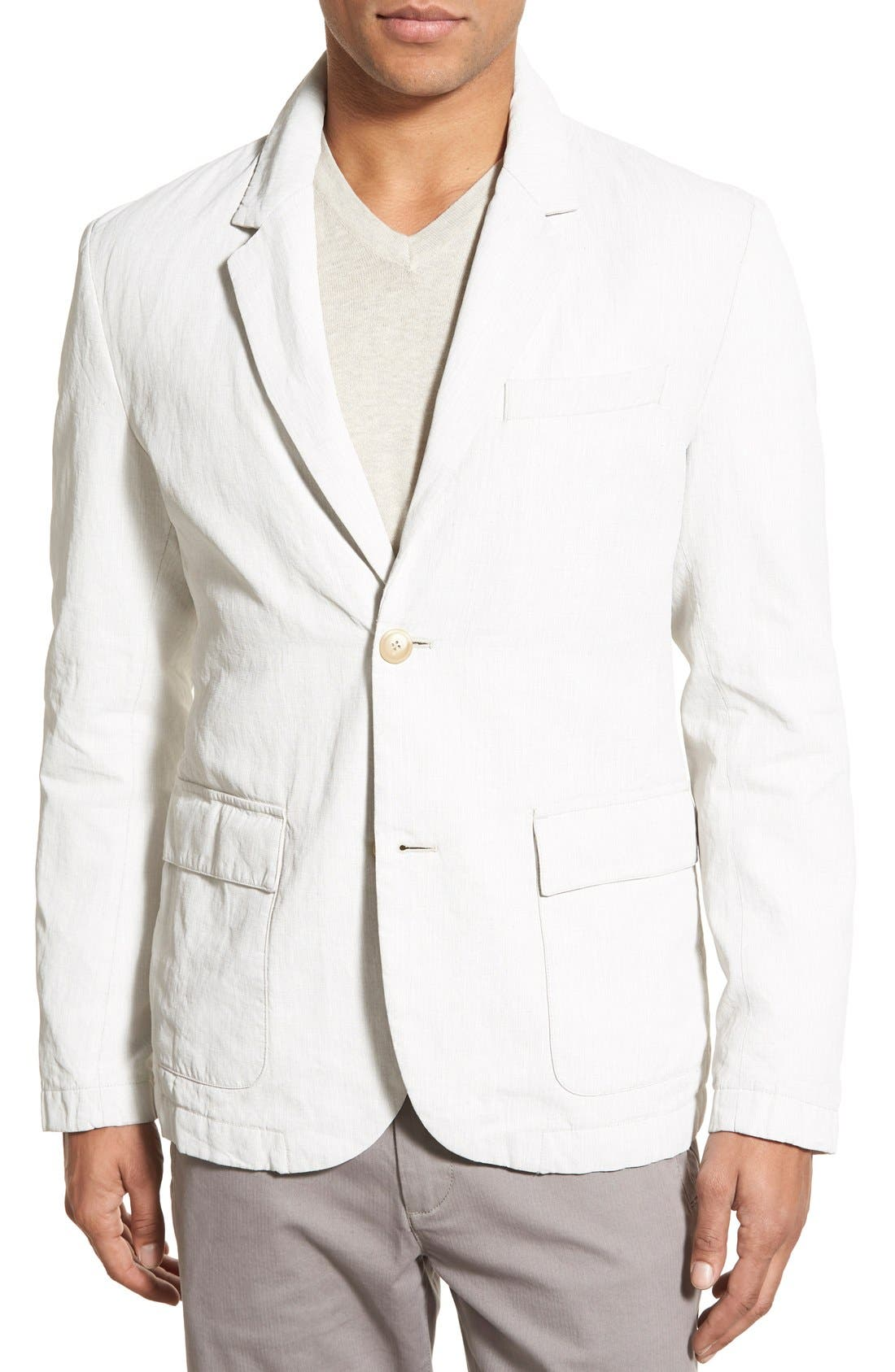 Linen Blend Unconstructed Sport Coat,                         Main,                         color, Natural