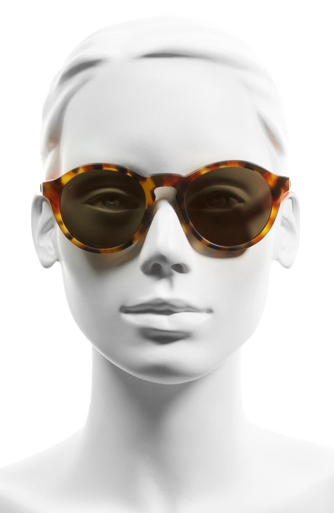 'Reprise' 50mm Round Sunglasses,                             Alternate thumbnail 2, color,                             Matte Coral Tortoise/ Grey