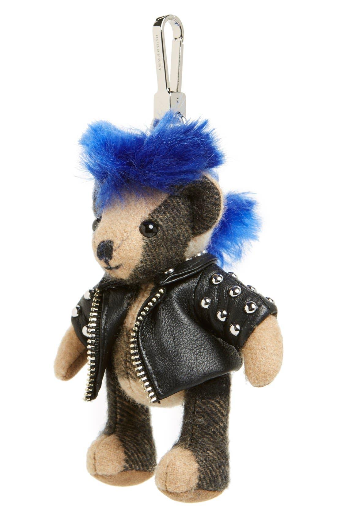 Alternate Image 1 Selected - Burberry 'Thomas Punk Bear' Bag Charm