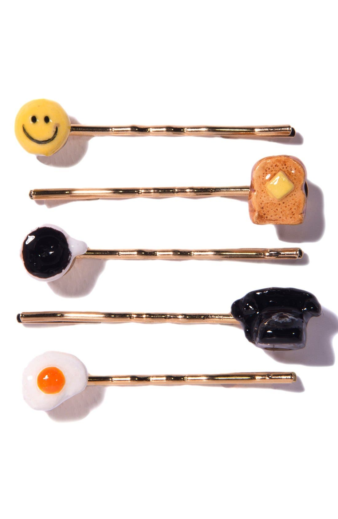 Alternate Image 1 Selected - Venessa Arizaga 'Brunch Time' Bobby Pins (Set of 5)