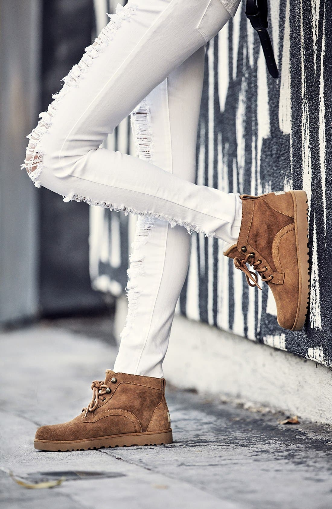 Bethany - Classic Slim<sup>™</sup> Water Resistant Chukka Boot,                             Alternate thumbnail 6, color,