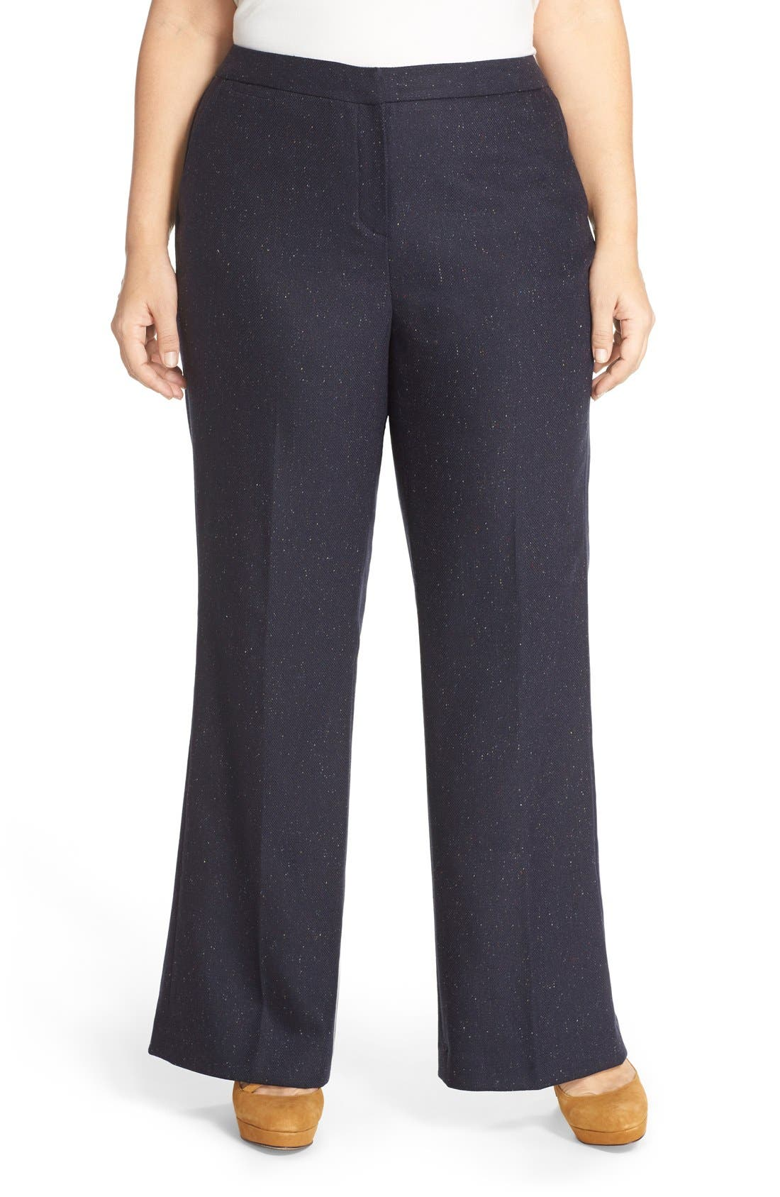 Alternate Image 1 Selected - Halogen® Wide Leg Pants (Plus Size)