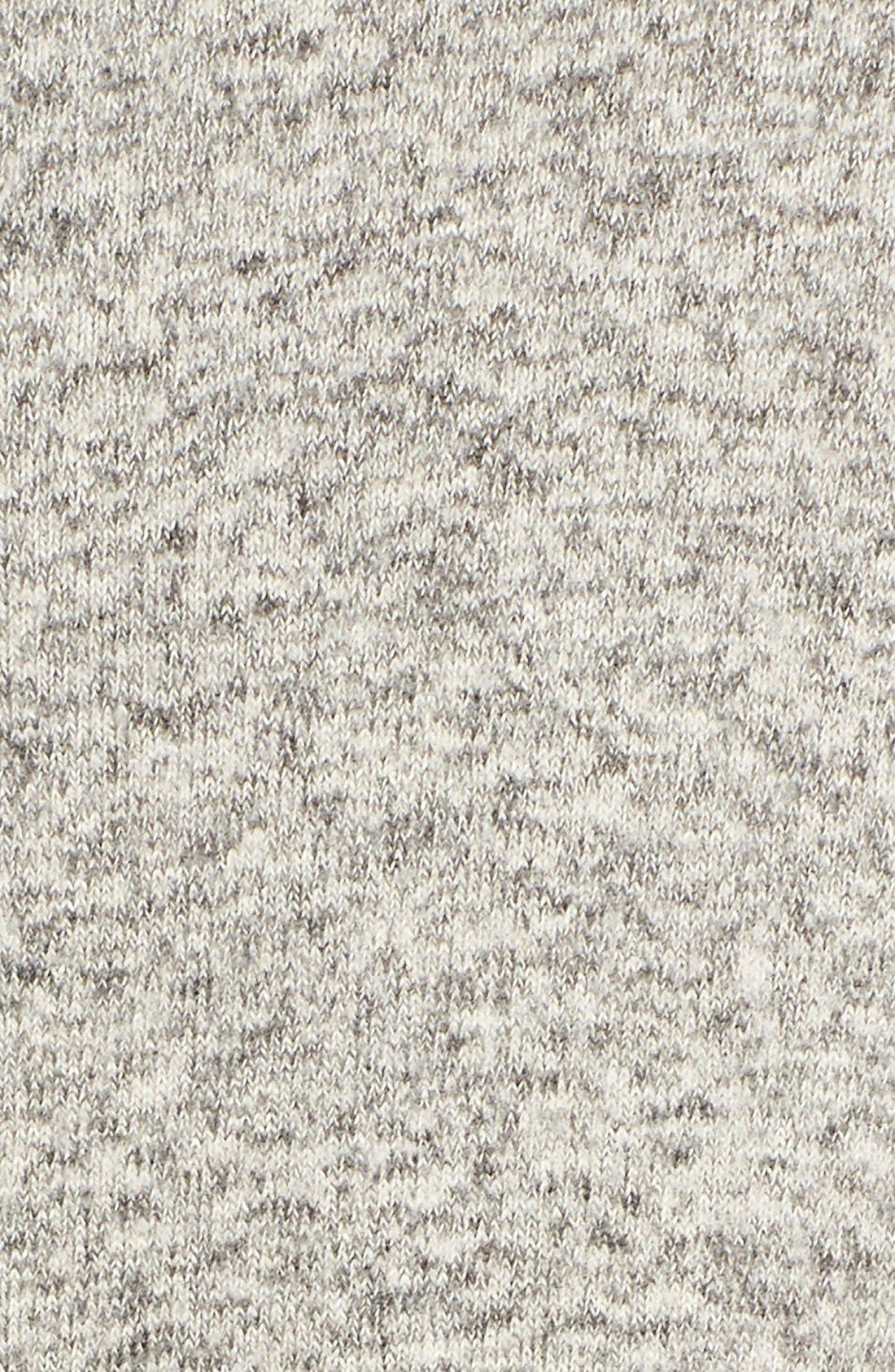 Button Back Fuzzy Fleece Tunic,                             Alternate thumbnail 5, color,                             Ash