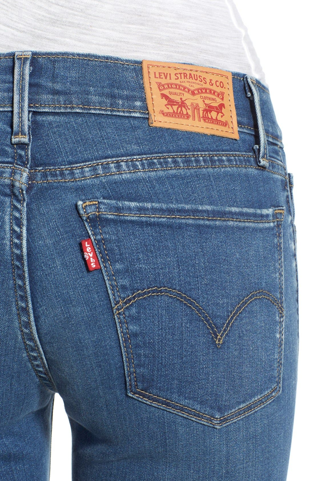 Alternate Image 4  - Levi's® '710' Super Skinny Jeans (Pacific Drive)