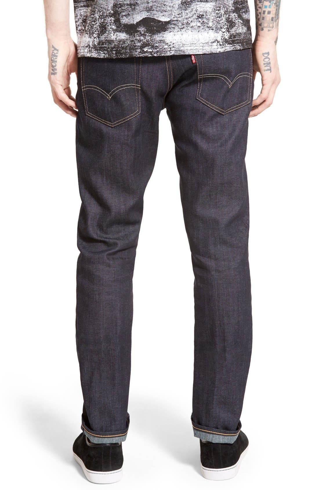 Alternate Image 2  - Levi's® Red Tab™ 511™ Skinny Jeans (Blue Flame) (Regular & Tall)