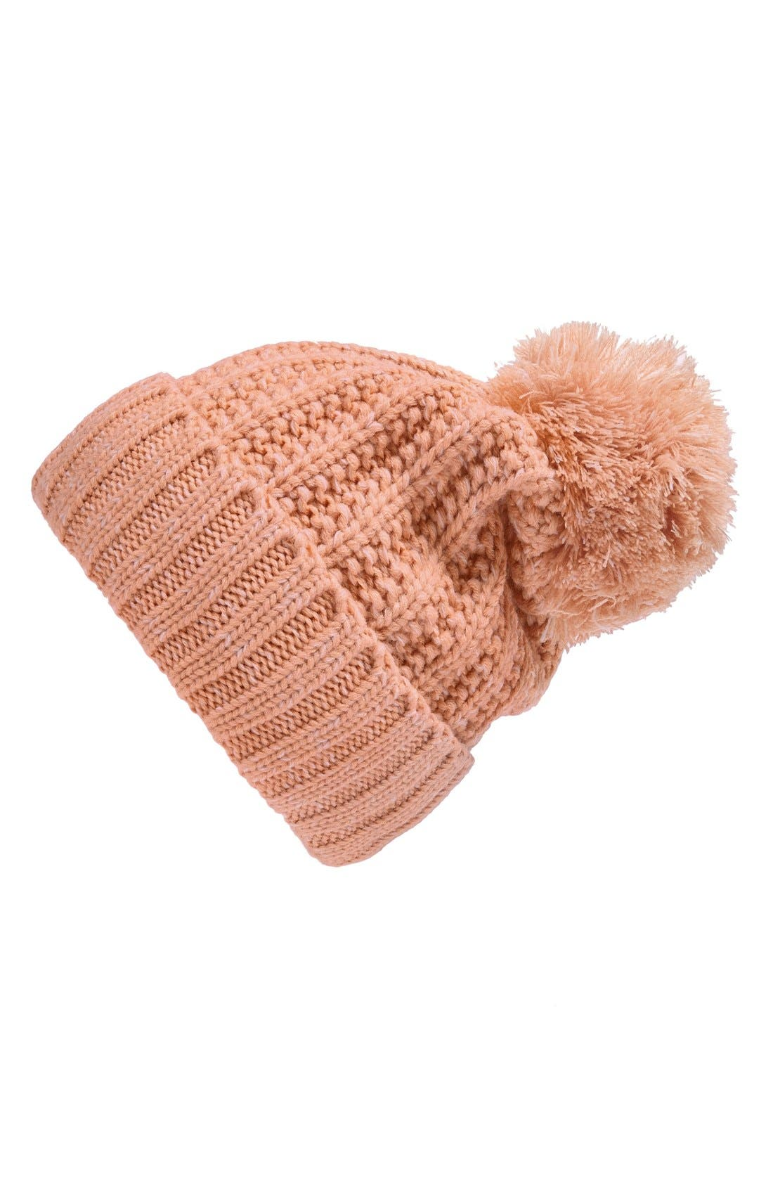 Main Image - Phase 3 Marled Cuff Beanie with Pompom