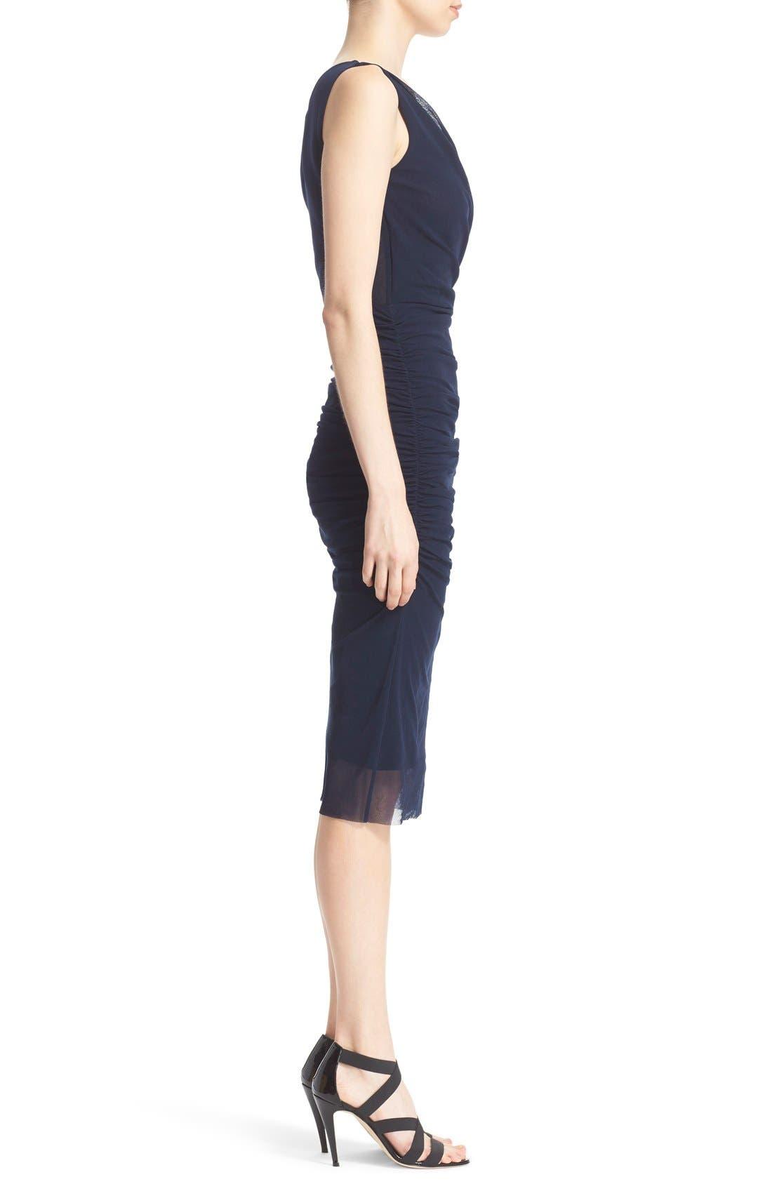 Alternate Image 5  - Fuzzi Ruched Tulle Mesh Dress