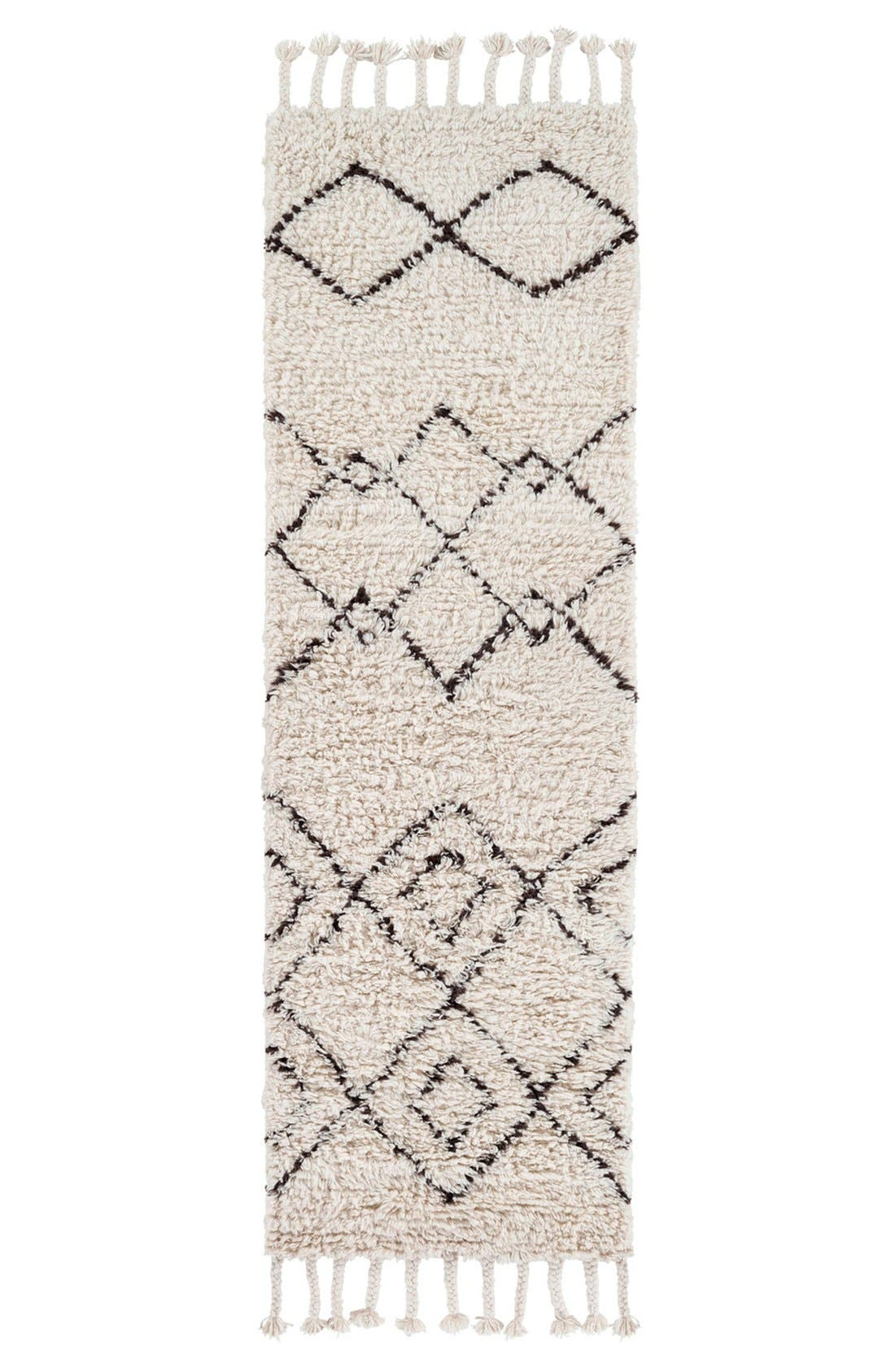 'Sherpa' Wool Rug,                             Alternate thumbnail 2, color,                             Ivory/ Taupe