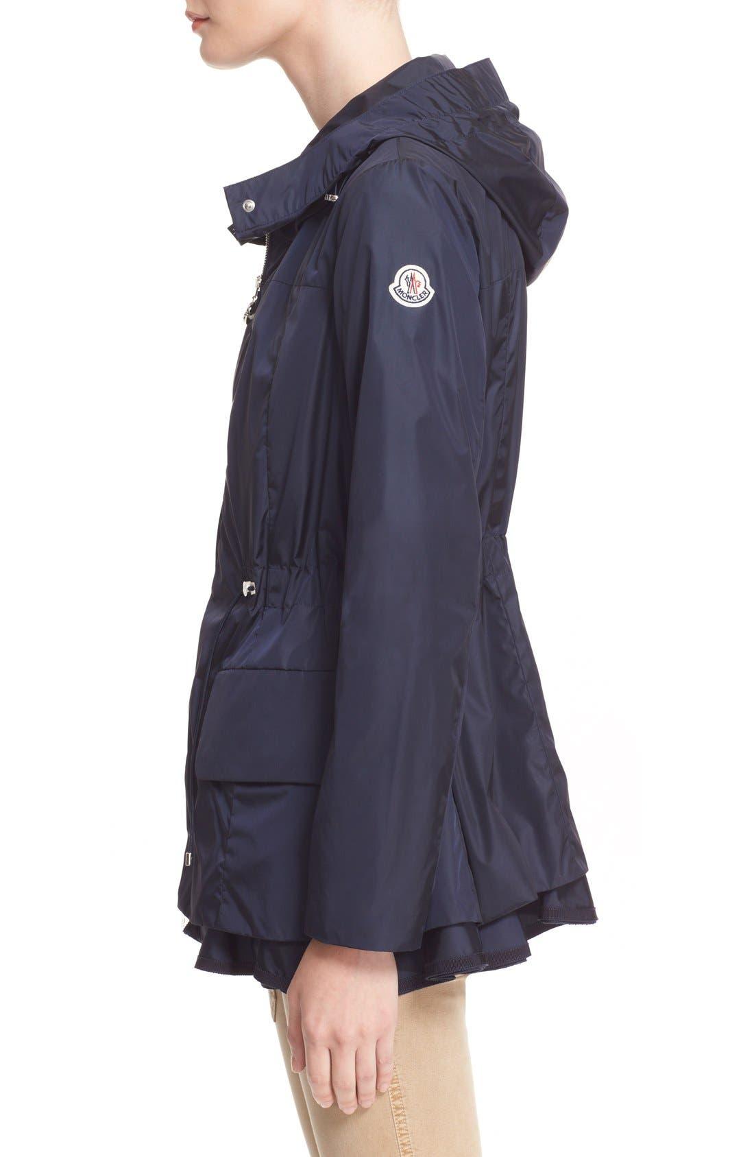 Alternate Image 5  - Moncler 'Limbert' Water Resistant Peplum Hem Hooded Rain Jacket