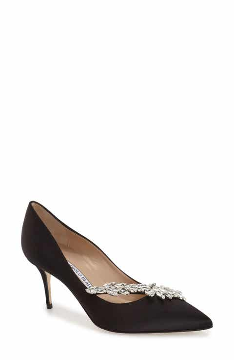 Womens manolo blahnik wedding shoes nordstrom manolo blahnik nadira crystal embellished pointy toe pump junglespirit Choice Image