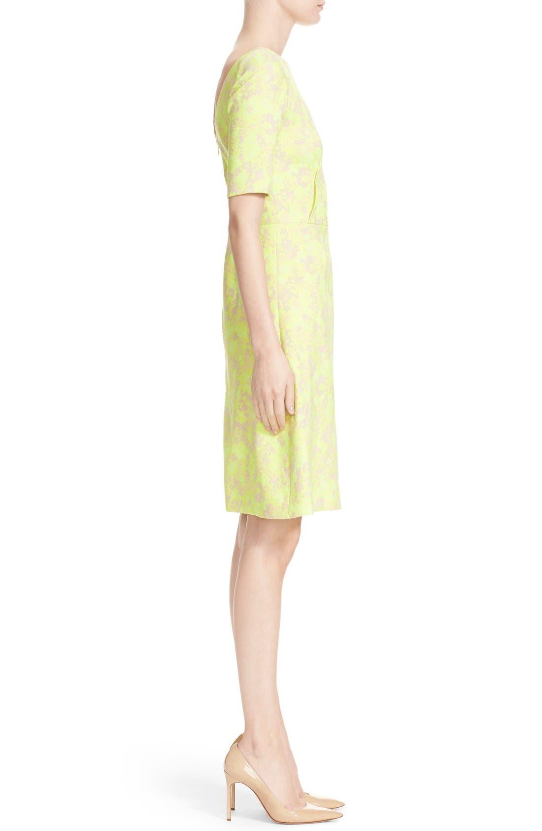 Alternate Image 5  - Lela Rose Floral Jacquard Sheath Dress