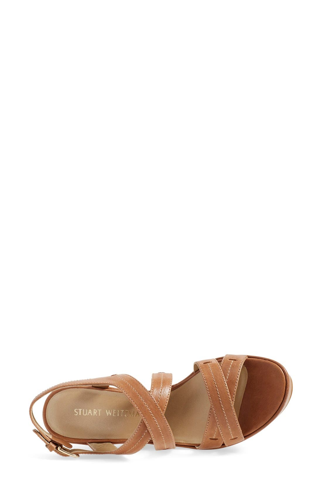 Alternate Image 3  - Stuart Weitzman 'Doublexing' Wedge Sandal (Women)