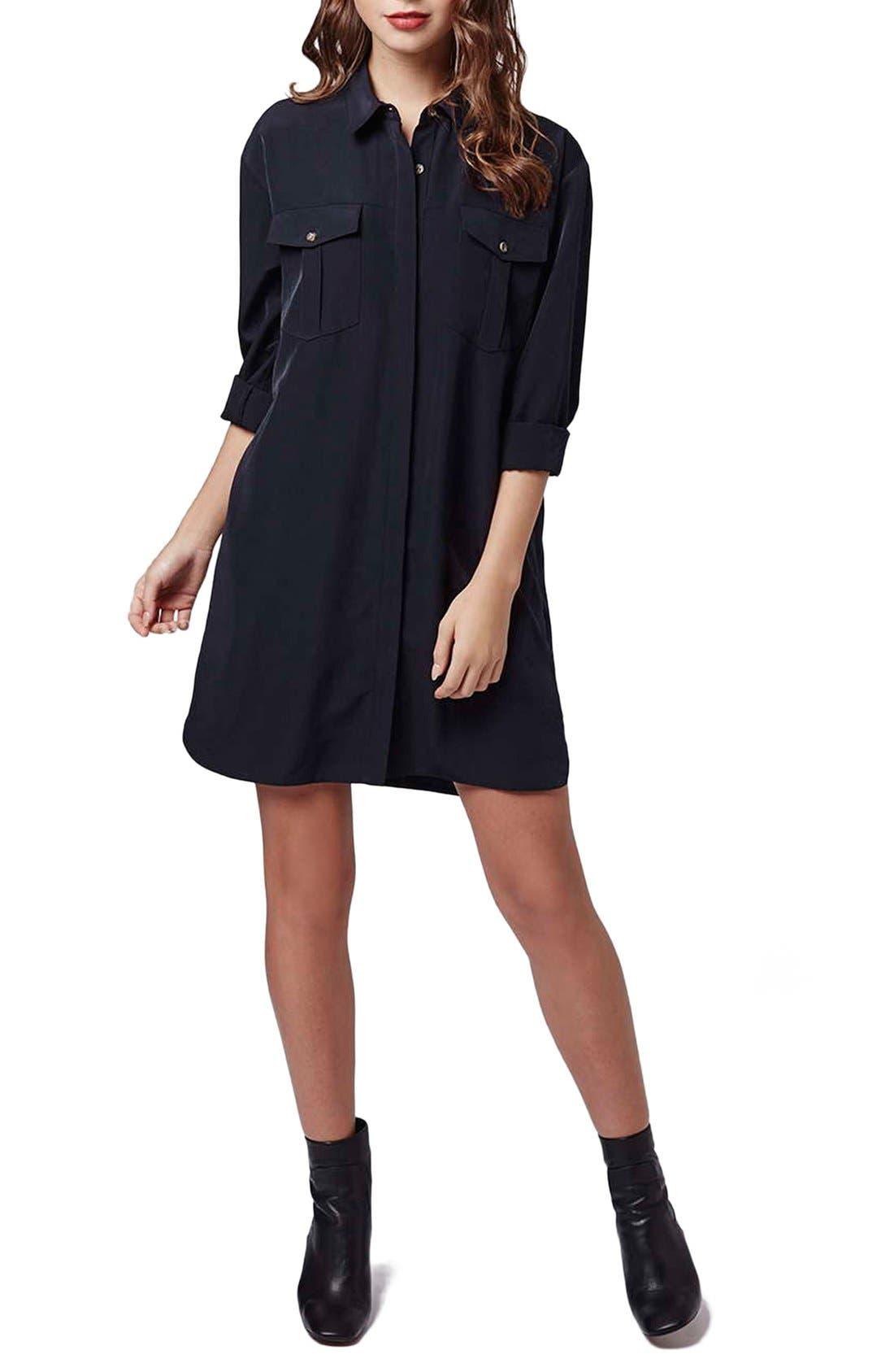 Alternate Image 5  - Topshop Oversize Shirtdress (Petite)