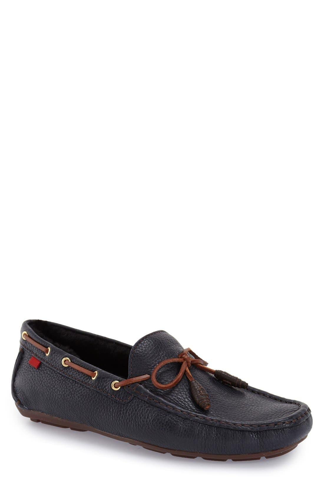 Alternate Image 1 Selected - Marc Joseph New York 'Rockefeller' Genuine Shearling Lined Driving Shoe (Men)
