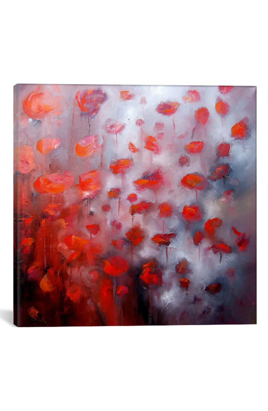 'Petals in Wind' Giclée Print Canvas Art,                         Main,                         color, Red