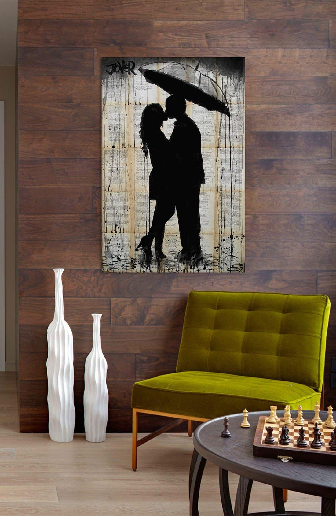 Alternate Image 2  - iCanvas 'Rain Lovers' Giclée Print Canvas Art