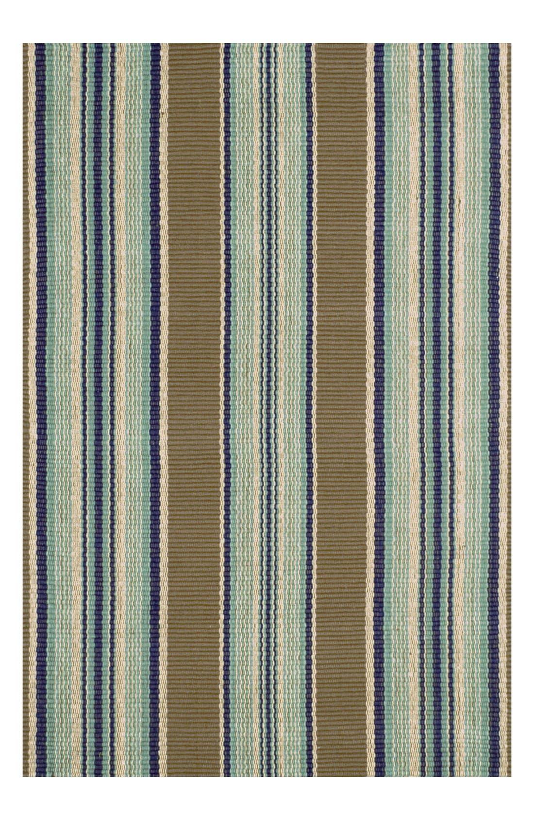 Main Image - Dash & Albert 'Blue Heron' Stripe Cotton Rug.