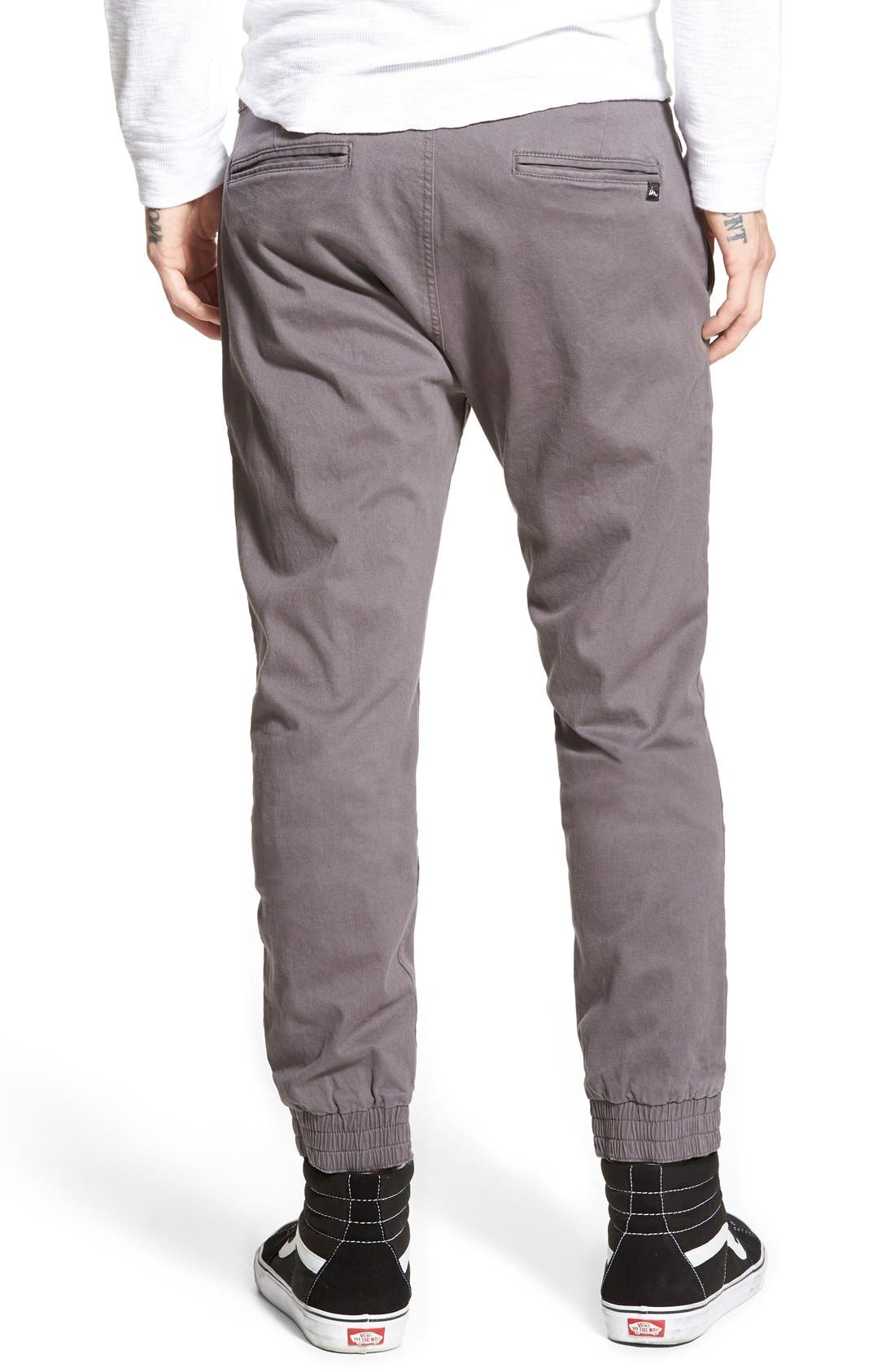 'Denny' Woven Jogger Pants,                             Alternate thumbnail 2, color,                             Charcoal