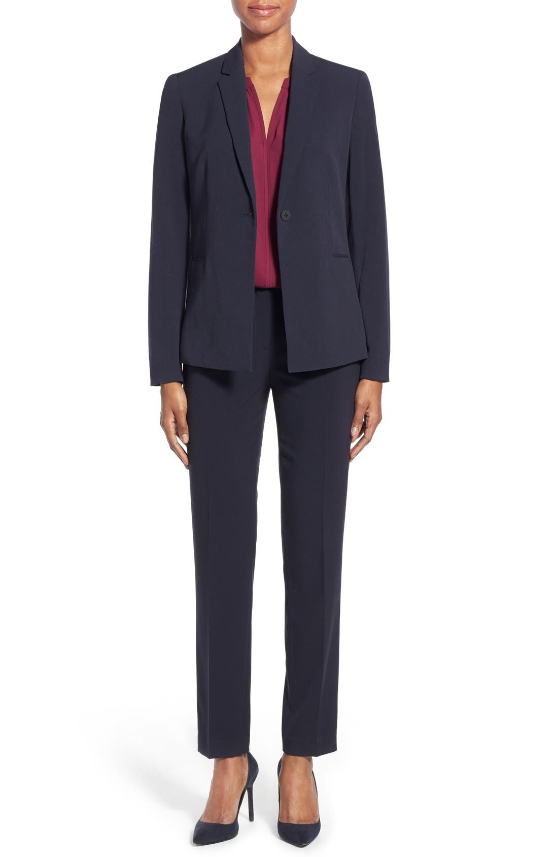 Alternate Image 2  - T Tahari Jolie Stretch Woven Suit Jacket