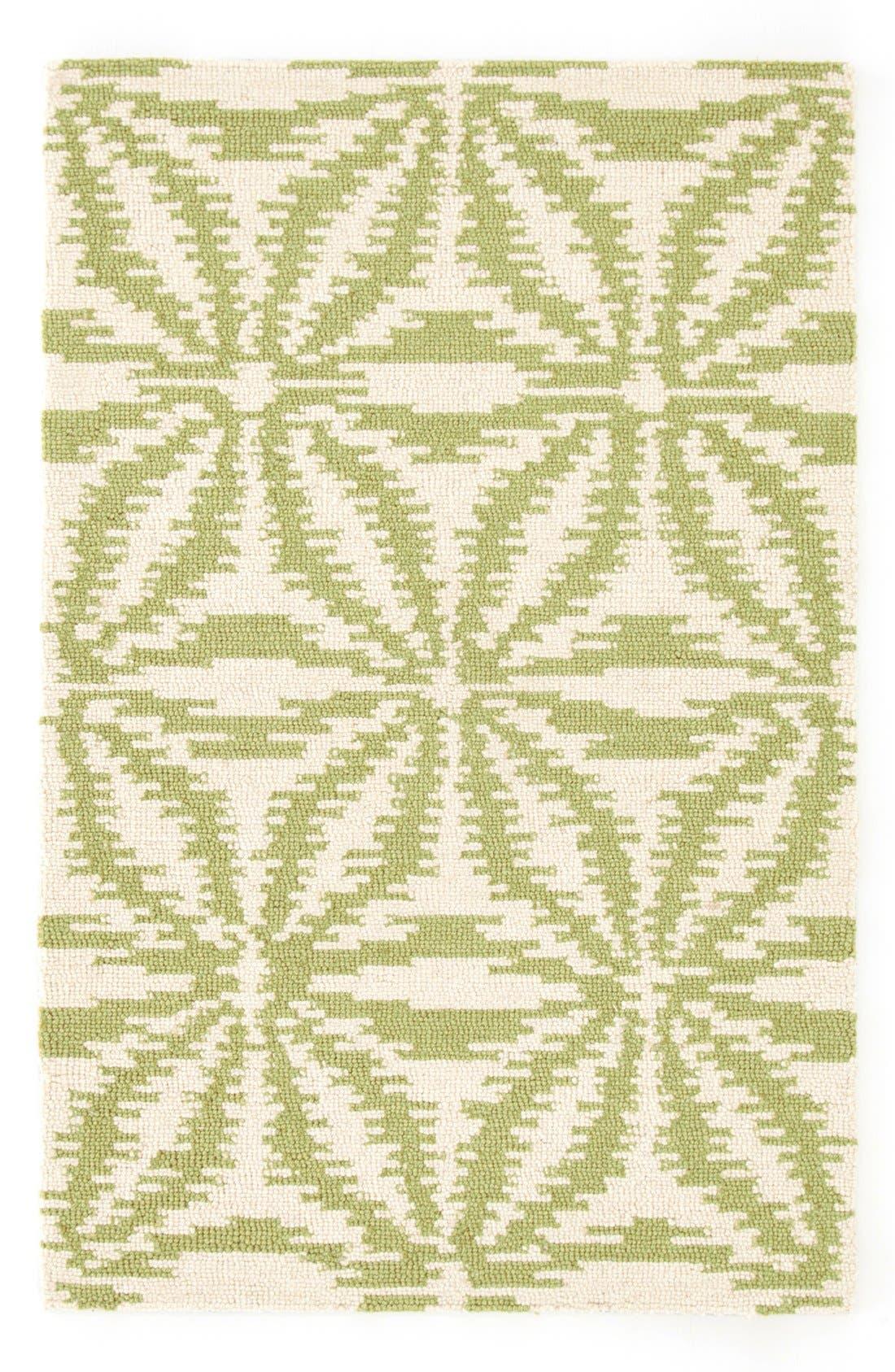 ''Aster' Cotton Rug,                         Main,                         color, Sage