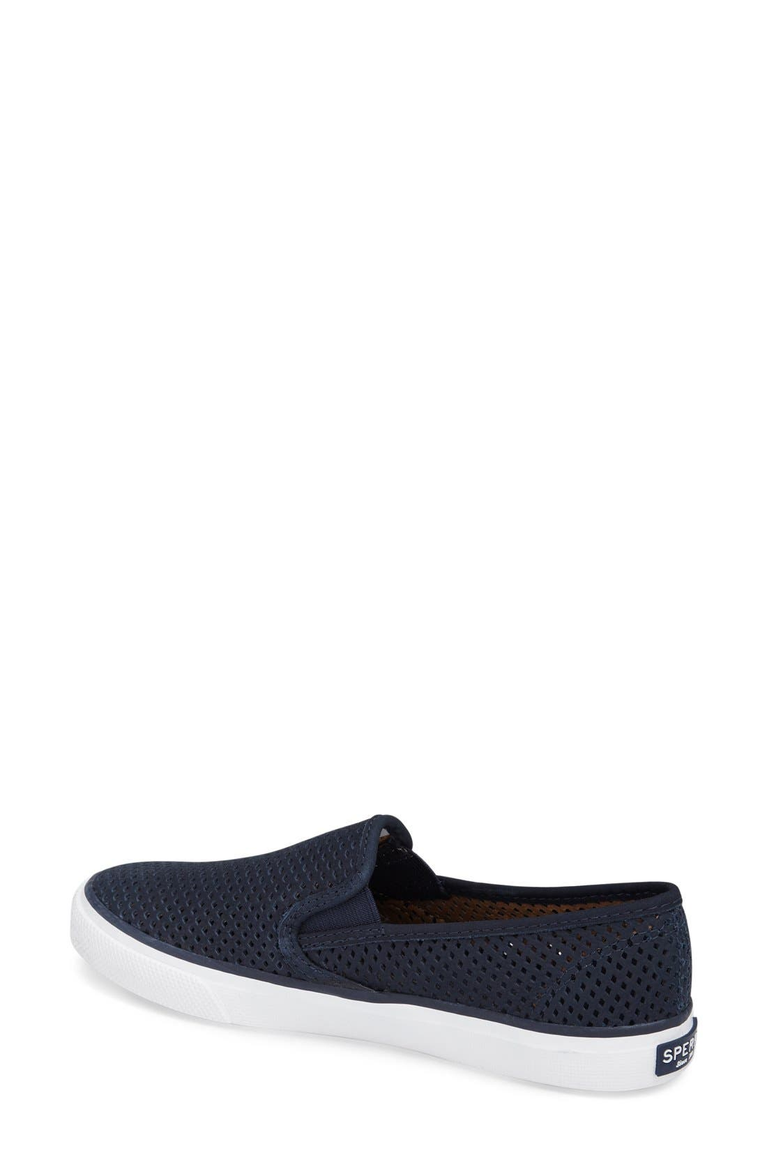 Alternate Image 2  - Sperry 'Seaside' Perforated Slip-On Sneaker (Women)