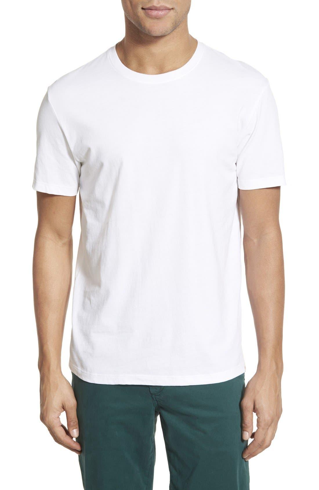 'Cliff' Crewneck T-Shirt,                             Main thumbnail 1, color,                             True White