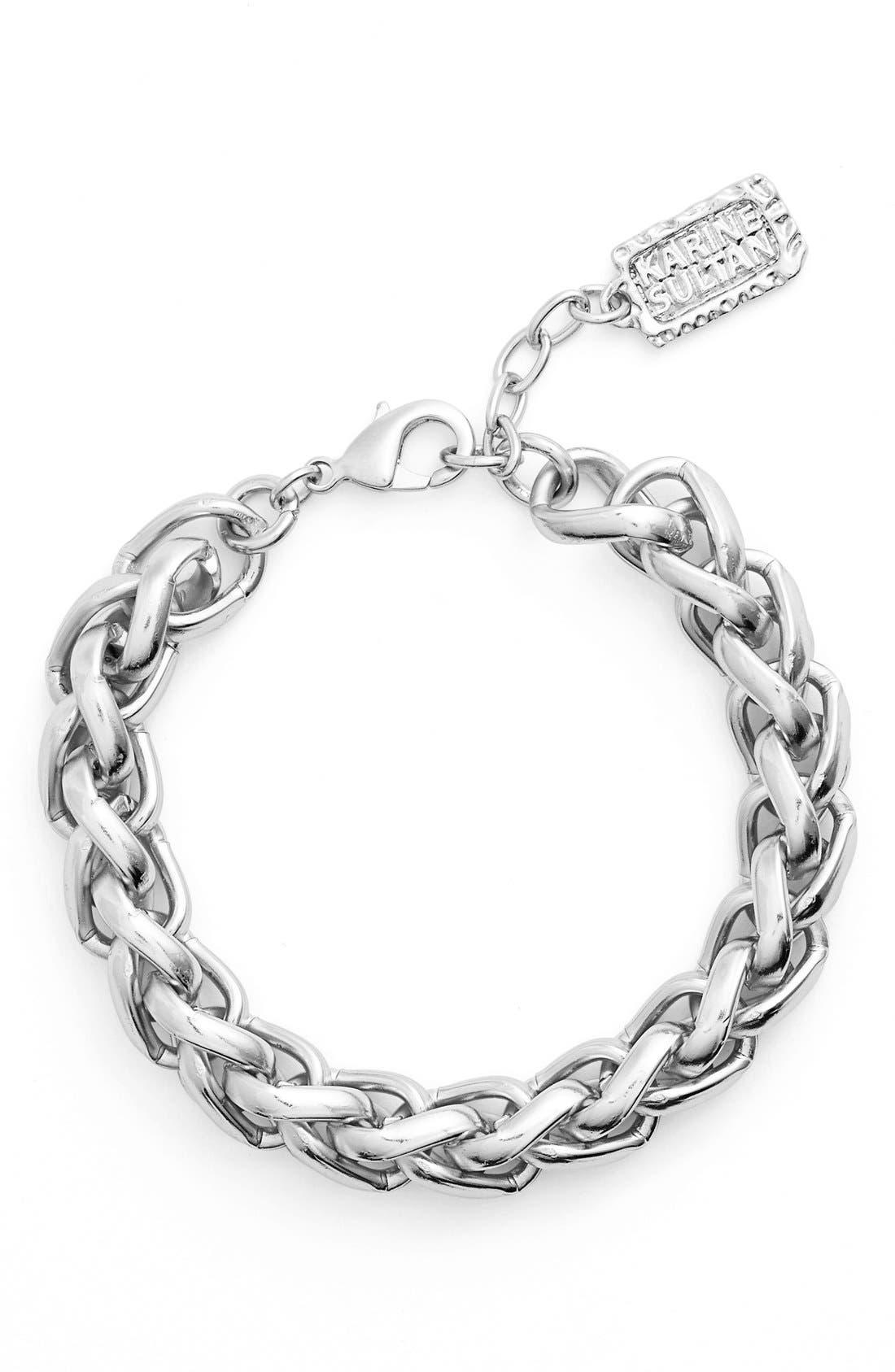 Karine Sultan Braided Link Bracelet