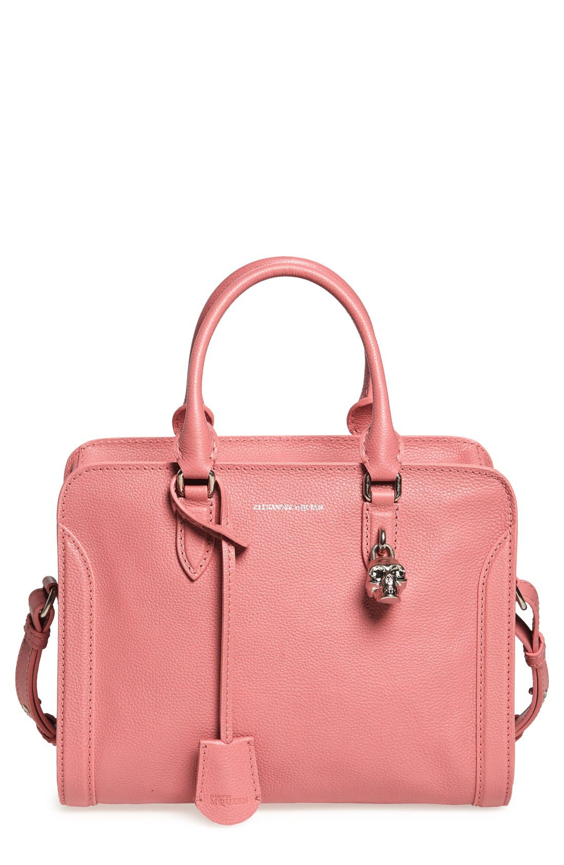 Alternate Image 1 Selected - Alexander McQueen 'Small Padlock' Leather Duffel Bag