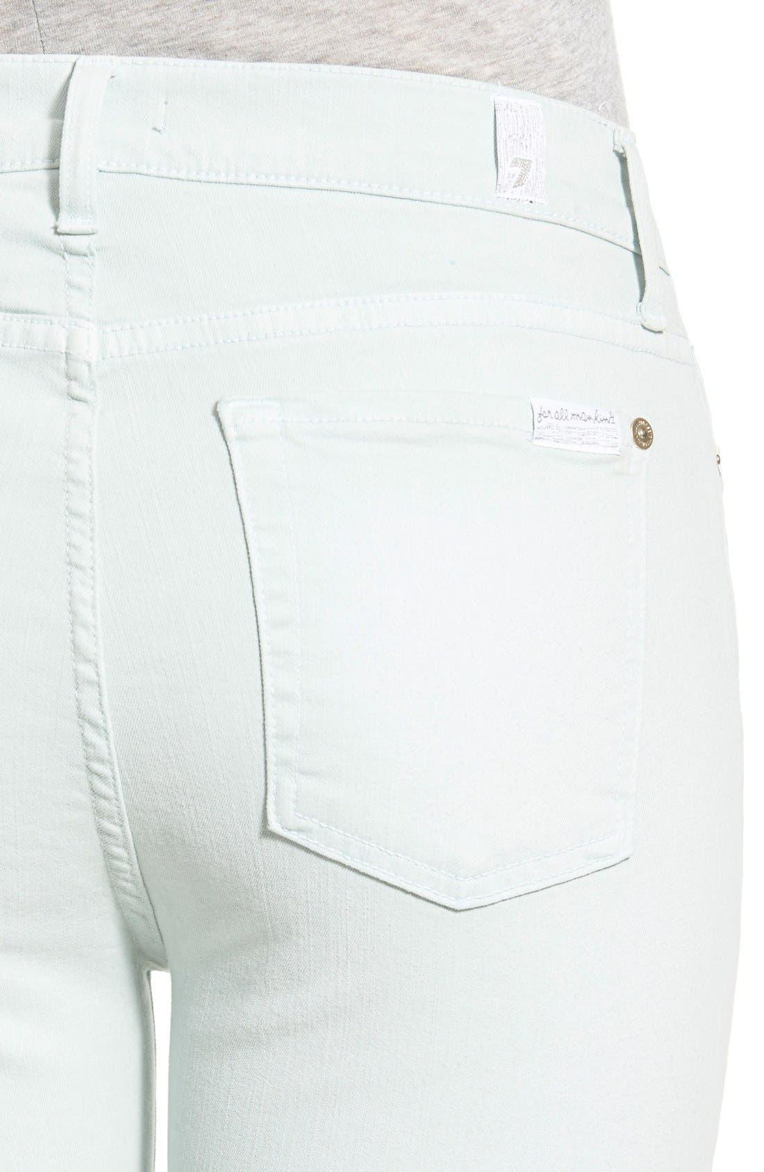 Alternate Image 4  - 7 For All Mankind® Released Hem Ankle Skinny Jeans