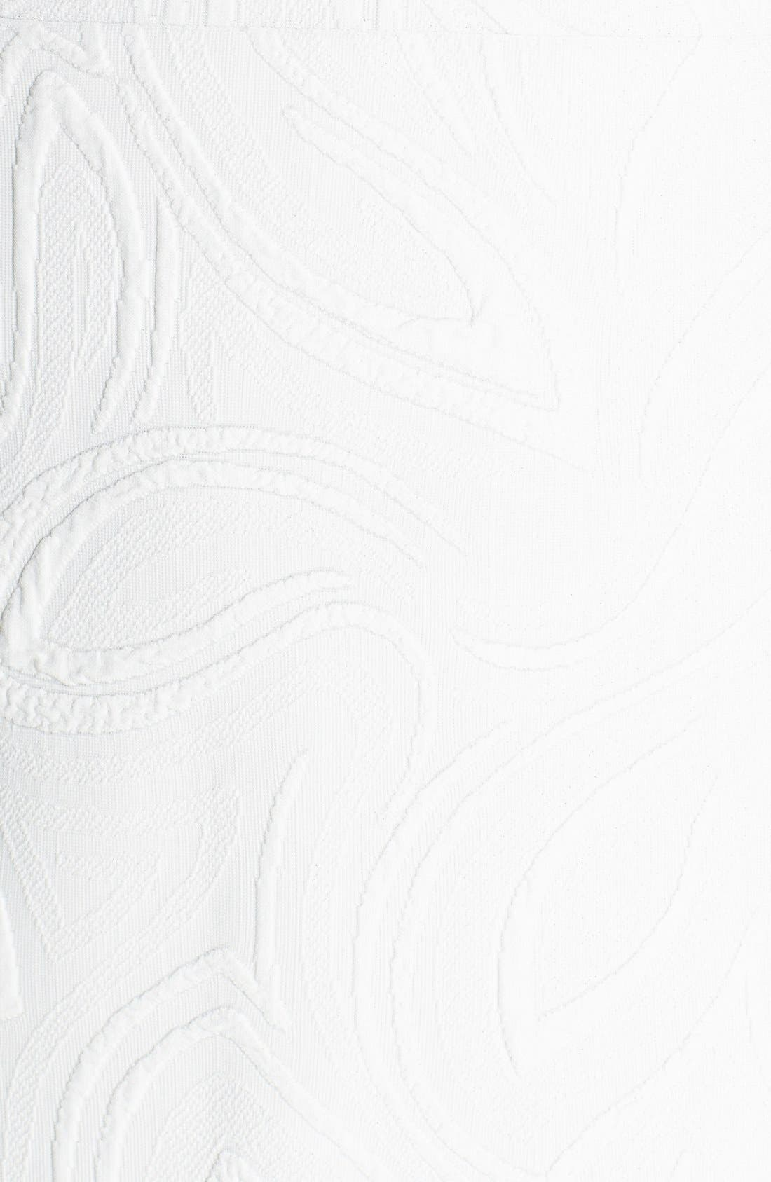 Jacquard Sheath Dress,                             Alternate thumbnail 6, color,                             Ivory