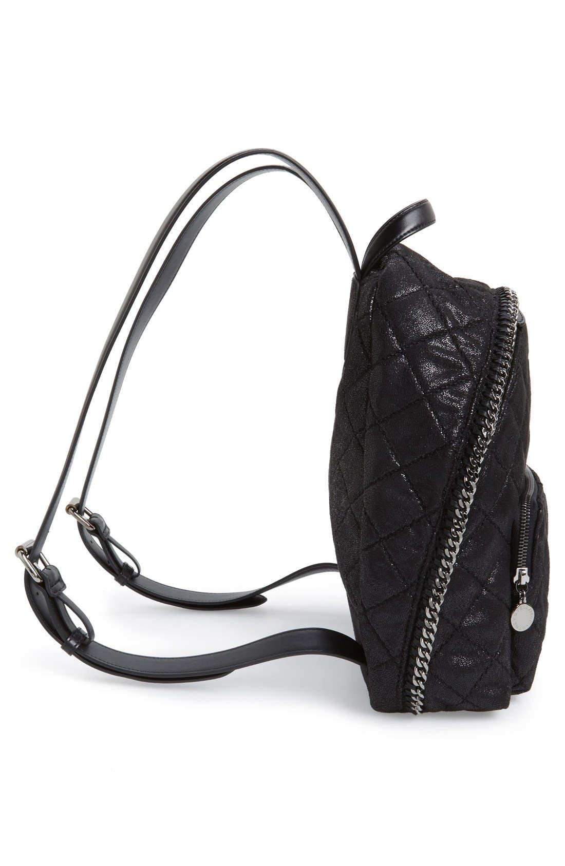 Alternate Image 5  - Stella McCartney 'Mini Falabella' Faux Leather Quilted Backpack