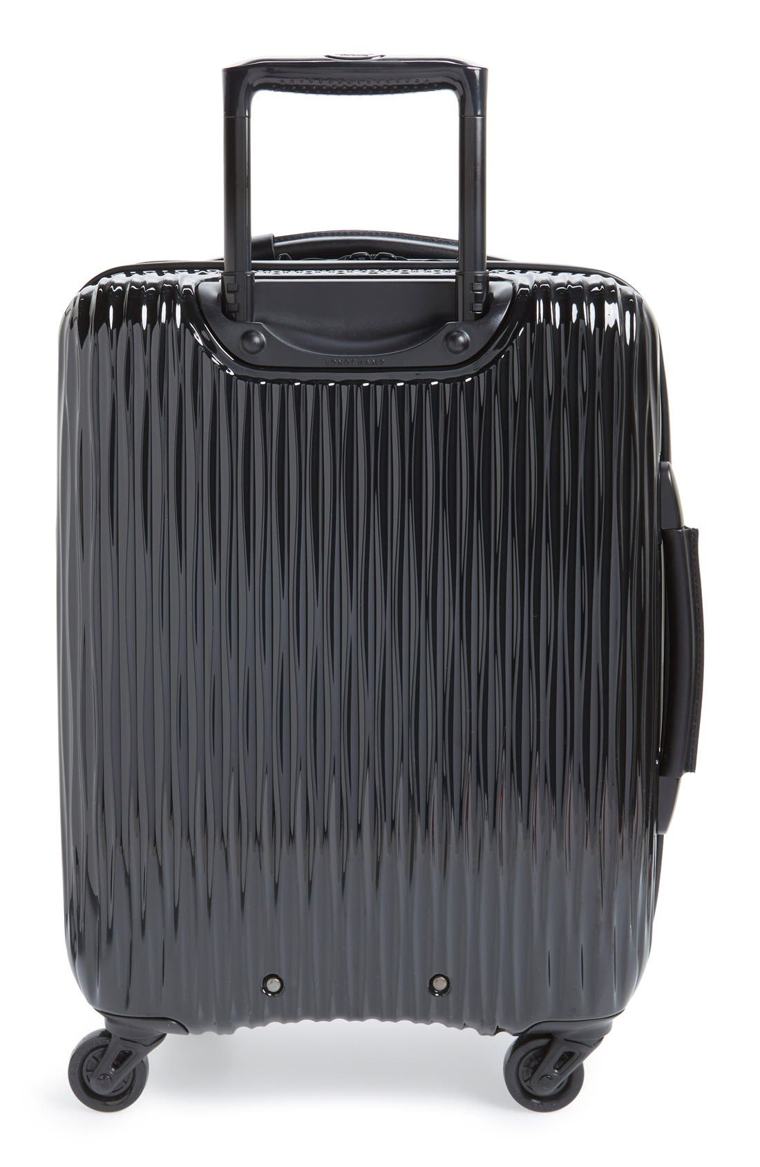'Fairval' Four-Wheeled Hard Shell Suitcase,                             Alternate thumbnail 2, color,                             Black